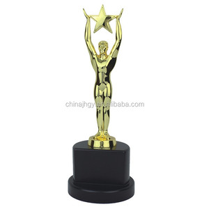 custom metal made funny award championship small trophy