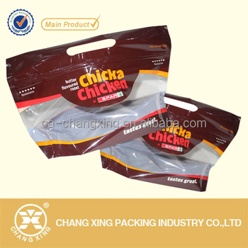 Zippered Gravure Printing Laminated Clear Plastic Whole En Bag Pouch Hot Bags Grilled Product On