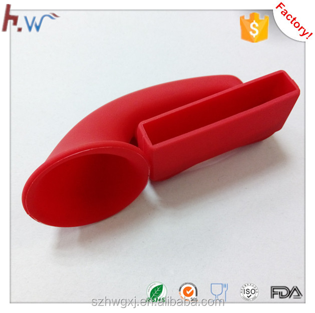 Mobile Phone Silicone Speaker With Horn Stand