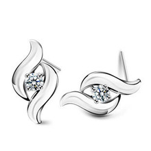 Luxury Jewels Pakaian Pengantin Perhiasan <span class=keywords><strong>925</strong></span> Sterling Silver Earrings