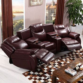 Cinema Sofa With Recliner Lazy Boy Sofa Bed Top Grain Leather Vip ...