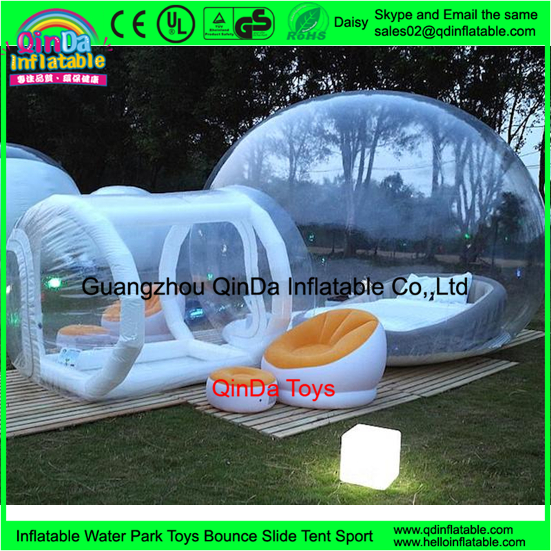 Hot Transparent Inflatable Bubble House Tent Clear Outdoor PVC C&ing Tent With Tunnel & Hot Transparent Inflatable Bubble House Tent Clear Outdoor Pvc ...
