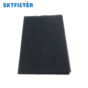 30ppi black open cell reticulated polyurethane foam