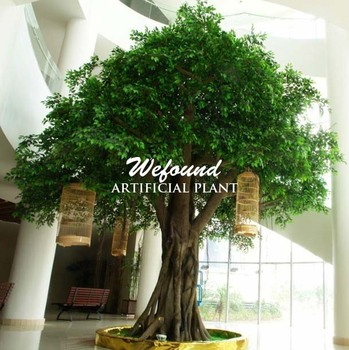 wefound ft0908 large indoor artificial banyan ficus trees for home decoration - Ficus Trees