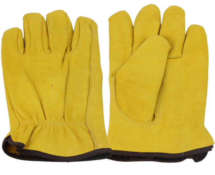5 pairs Leather Driver Gloves Fleece Lined work Lorry Drivers and 1red free
