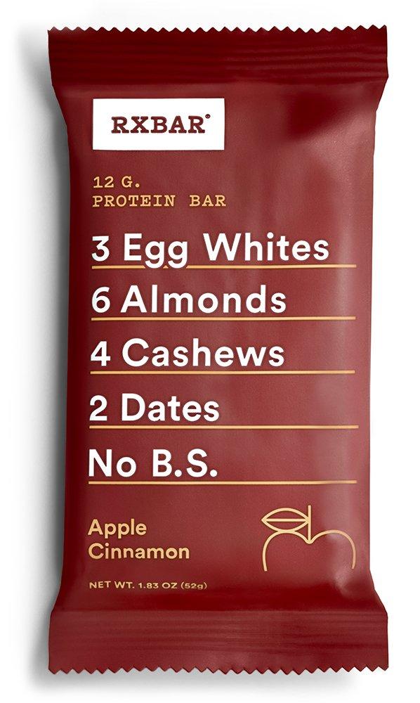 RXBAR Whole Food Protein Bar, Apple Cinnamon, 1.83oz Bars, 12 Count