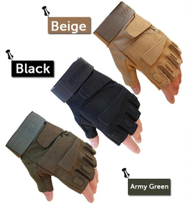 Outdoor Sports Gloves Running Riding Fighting Army Military Combat Half Finger Mittens Working leather safety gloves