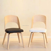 European style bentwood dining chair with pu cushion