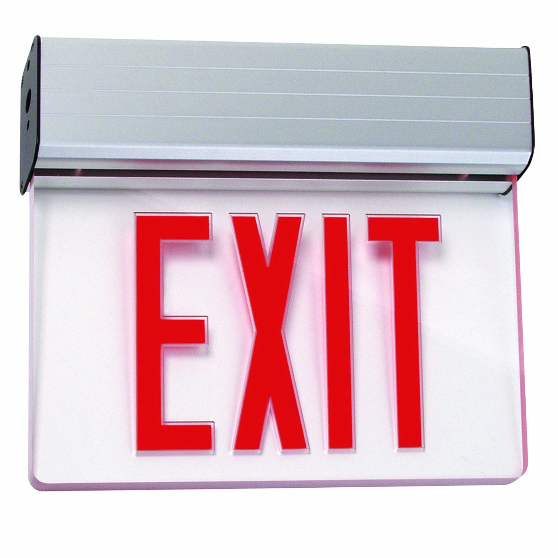 Sunlite 04327-SU EXIT/EDGE/SU/1F/RC/WH/EM/NYC Surface Mount Exit Light