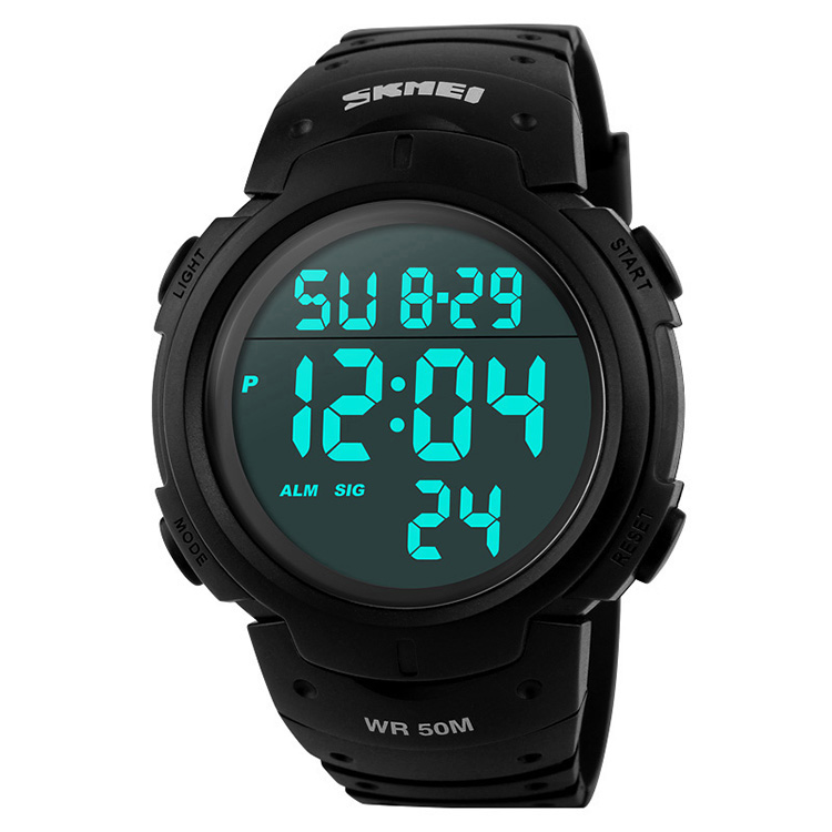 Skmei Luxury Brand Mens Sports Watches Dive 50m Digital LED Military Watch Men Fashion Casual Electronics Wristwatches Hot Clock, Customized can be available