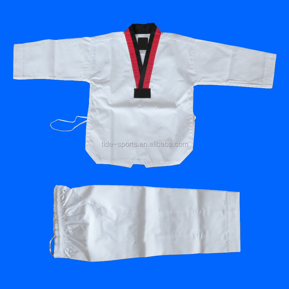 Sports style customized kids taekwondo dobok