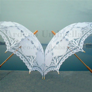 wholesale chinese high quality fabric lace parasol umbrella custom novelty for wedding decoration umbrella and photograph
