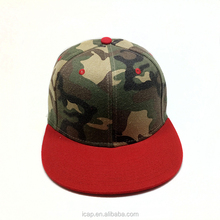 2018 New arrival snapback caps and hats blank camo style cap