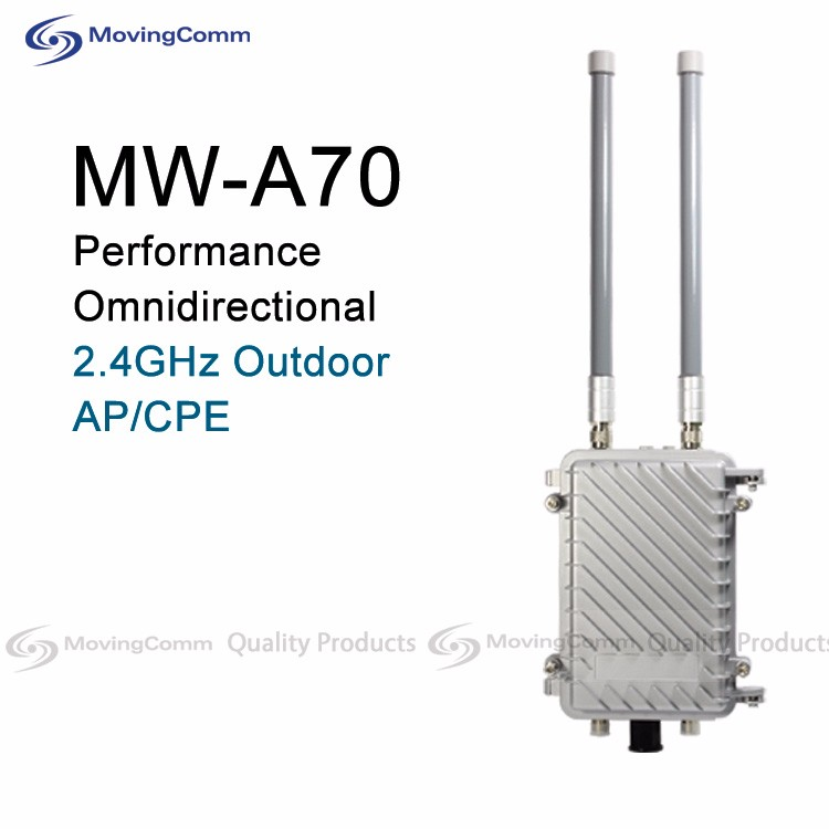 High Performance MW-A70 OpenWRT 2.4GHz 300Mbps Atheros AR9344 IP67 Outdoor Wifi access point with Lightning Protection