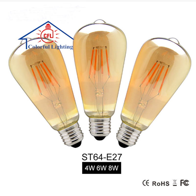 Free Sample E27 Vintage Led Edison Light Bulb Glass Lamp st64 Wholesale Alibaba Gold Supplier