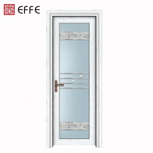2019 new aluminium interior toilet glass swing doors price