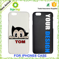 Factory price mobile accessories UV color custom design plastic cell phone for iphone 6 case