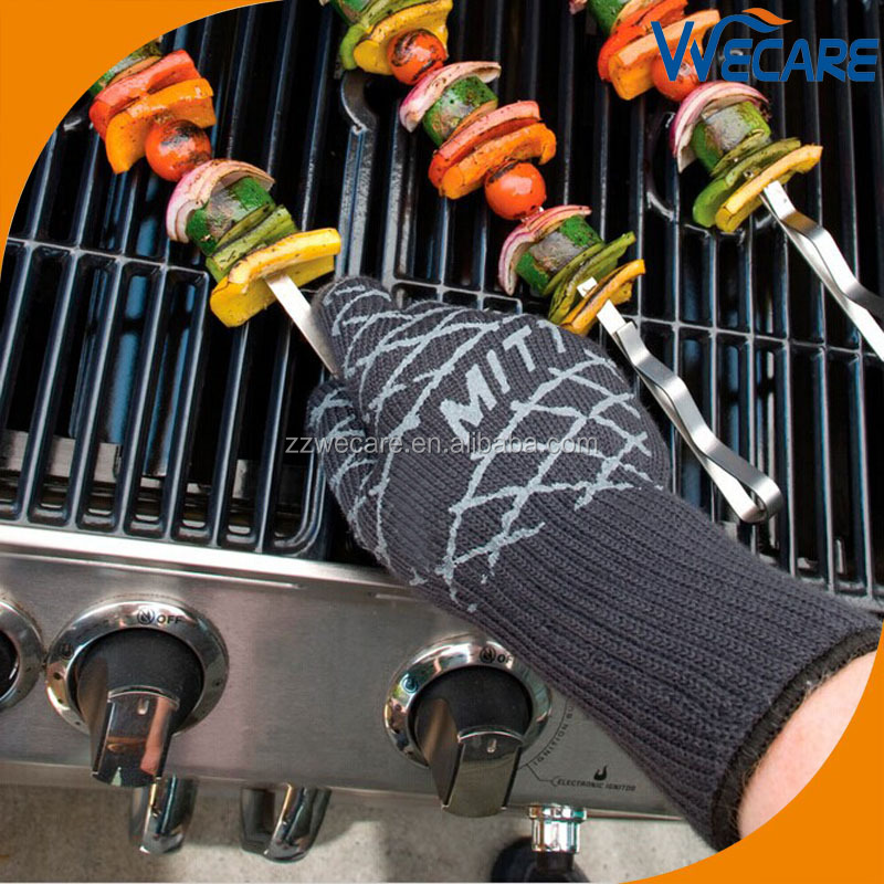 Silicone BBQ Grill Heat Resistant Gloves Non Slip Oven Mitts