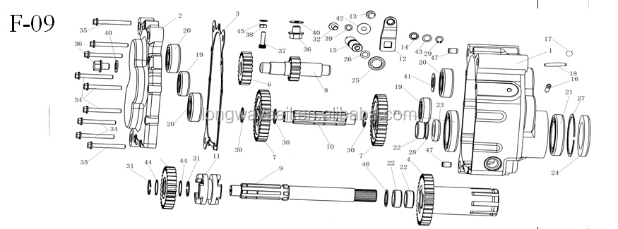 KINROAD XINGLING CFMOTOR XT250GK BUGGY GO KART SPARE PARTS/GEAR BOX PARTS COMPLETE /GEARS /SHAFT