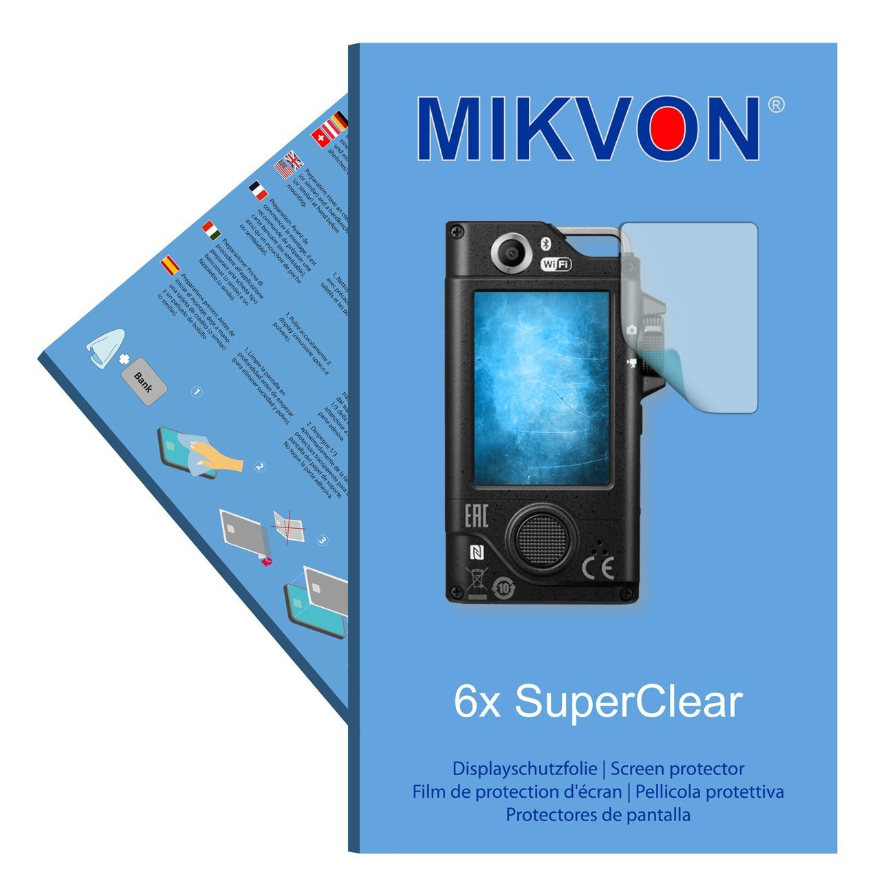 6x Mikvon films screen protector SuperClear for Nikon KeyMission 80 - transparent - Made in Germany