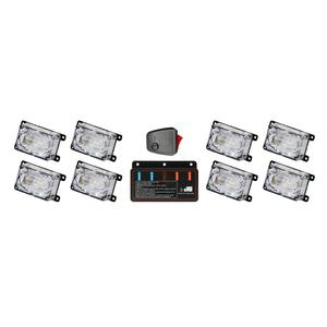 12V hideaway car emergency mini flashing led grille strobe light