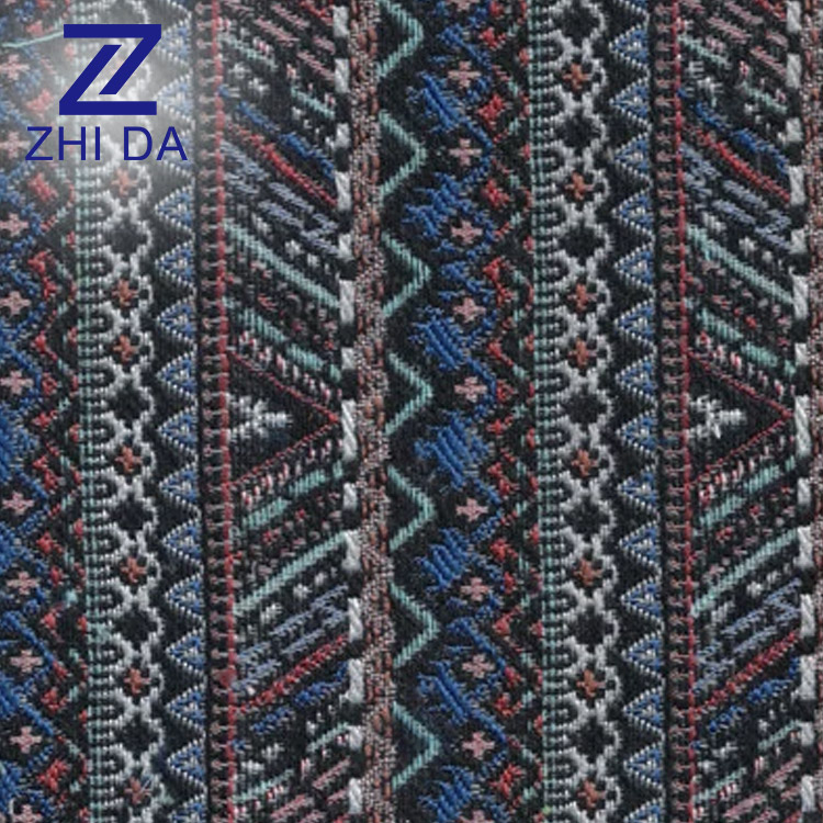 Wholesale new yarn dyed jacquard cotton fabric indian jacquard brocade fabrics for bags