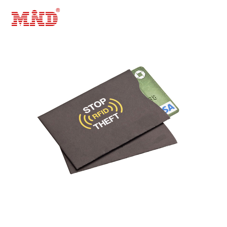 Custom aluminum anti scan credit card rfid blocking sleeves