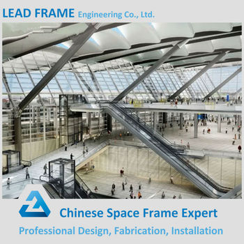 Hot Dip Galvanization Stainless Steel Structure Roof Truss For Railway  Station