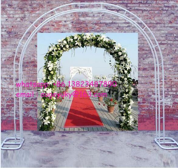 Metal blanco boda del arco flor del jard n decorativo for Arco decorativo jardin
