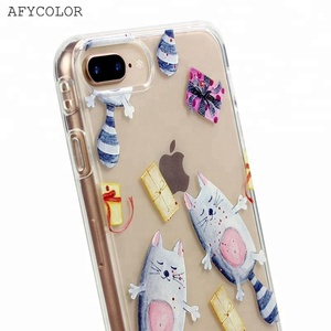 Soft Clear TPU Bumper Phone Case for iPhone 6 6s 7 8 plus, Silicone Cover for Samsung Galaxy S7 S8 S9 Mobile Phone