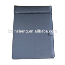 A5 leather restaurant menu note writing pad with page and pen clip