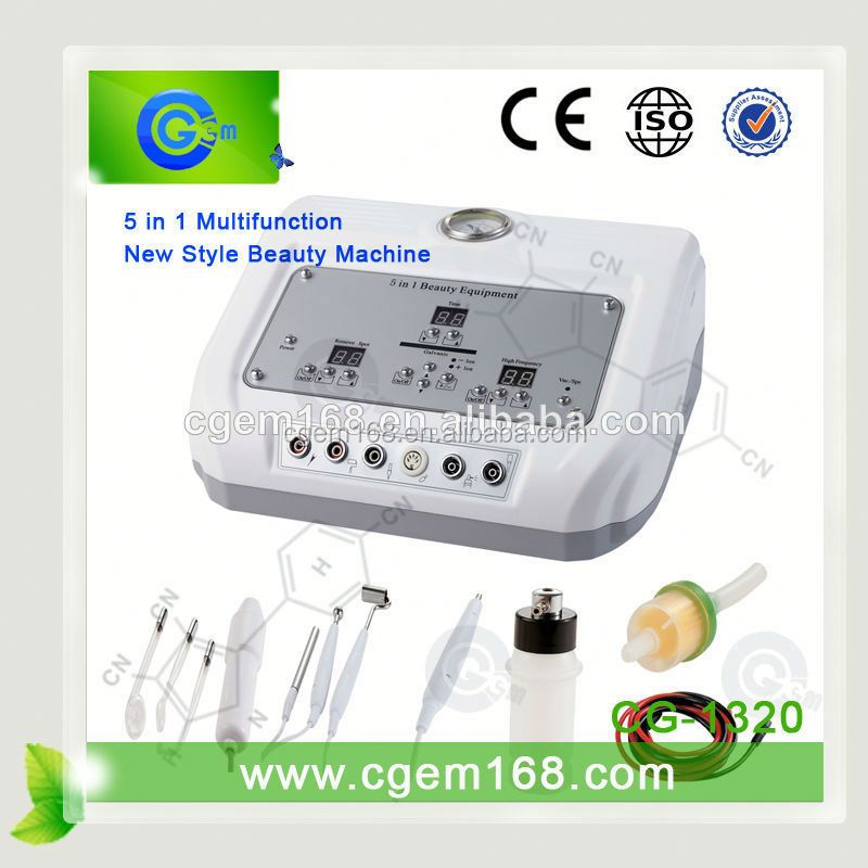 CG-1320 5 in 1 ultrasonic cosmetic instrument for salon use facial treatment