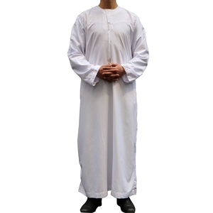 Excellent Quality Muslim Men Long Sleeve Terylene Dress Kaftan Men'S Abaya