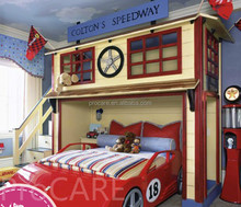 High quality wholesale solid wood Car shape kids bedroom set