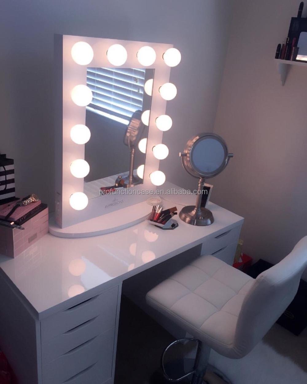 2016 Best Selling Led Lighted Makeup Mirror Hollywood Lighted Make ...