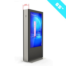 Weatherproof IP65 Interactive Stand Alone 65inch digital signage free standing outdoor lcd advertising display
