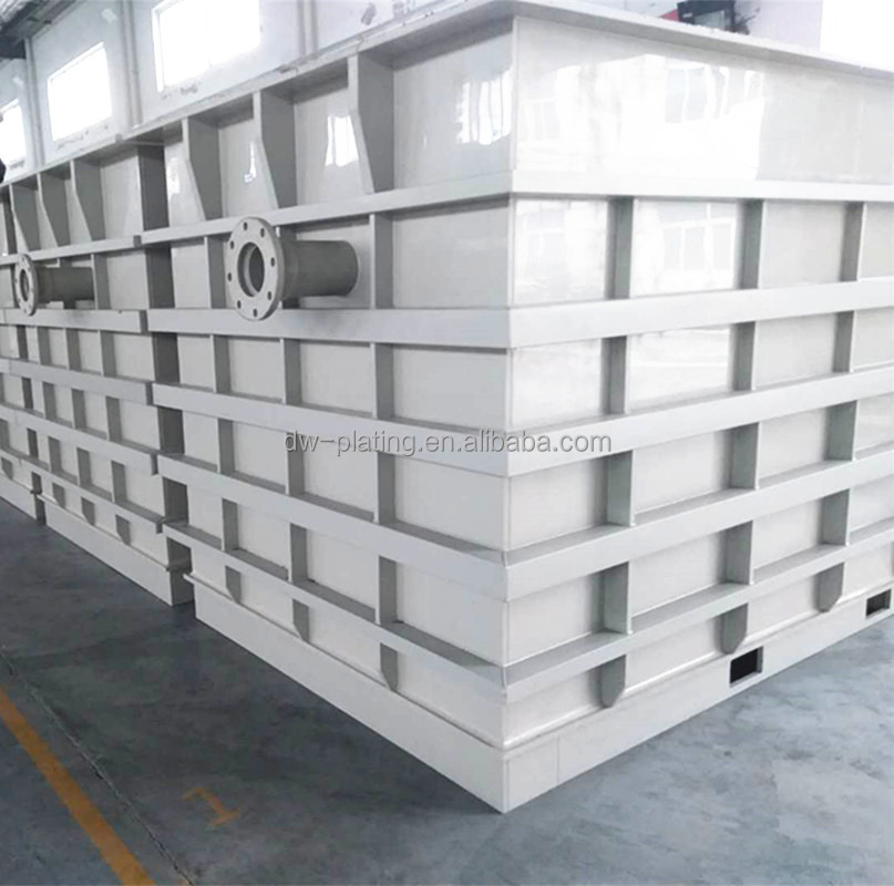 Electroplating tank, chemical tank, galvalizing bath