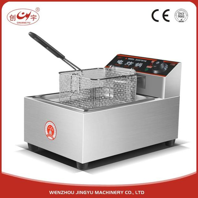 Chuangyu 2017 New Products Patent Restaurant Equipment Electric 2 Tank 4 Basket Deep Fryer / Continous Fryer
