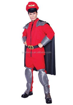 With Red Street Fighter Bison Firefighter Halloween Costume Men Costumes  Qamc 9162   Buy Firefighter Costume,Halloween Costume,Men Costumes Product  On ...