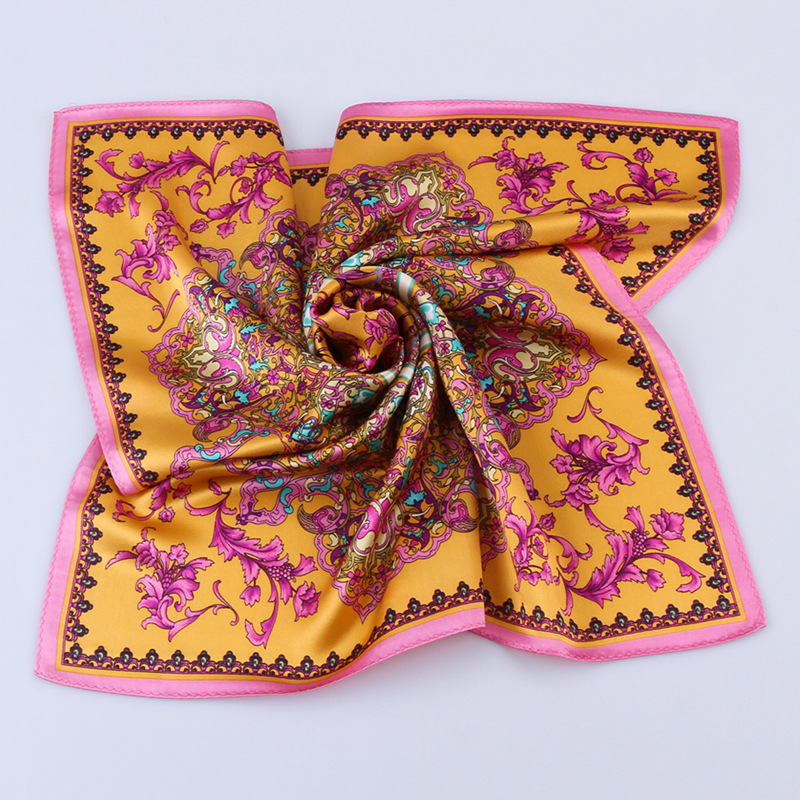 High Quality Fashionable Small Square Silk Scarf