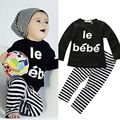 2pcs Kids Baby Girls Boys Infant Outfit Long Sleeve T Shirt Pants Clothes Sets