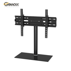 High quality universal black base desktop bracket tv mount