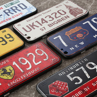 city&case 3d protective license plate silicone phone cover for iPhone 6 6s