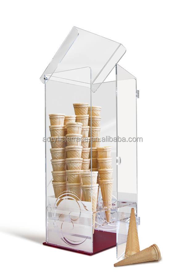 Dondurma Teşhir Dondurucu Dondurma Külahı Dispanser Dik Berrak