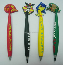 cute animal top PVC ballpoint pens with magnet,promotional thick magnet ballpens(BS-JL-MP-14110610)
