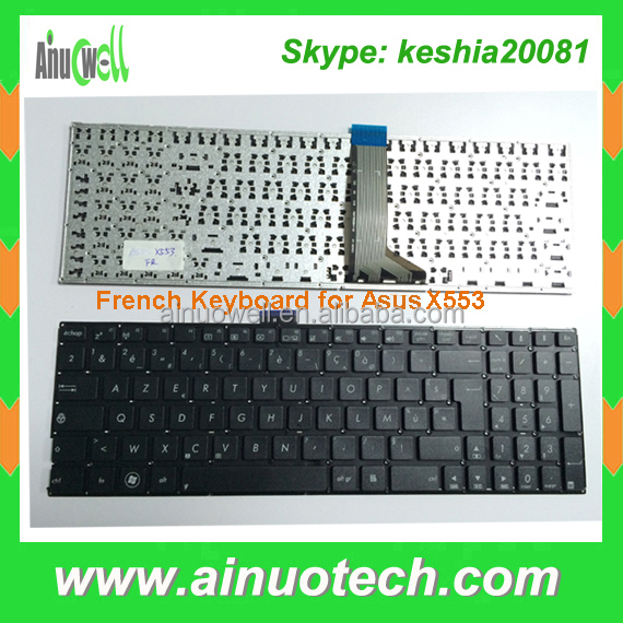 FR Notebook Keyboard For ASUS X553 F551 X552C X552E X552 A555 X551M Laptop French Keyboard US PL IT AR SP PO RU