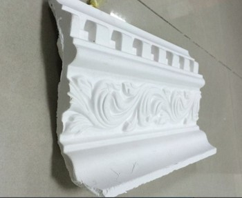 Pattern Carved Plaster Ceiling Molding Hold The Led Lamps For