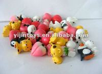 Mini vinyl toys set for promotion;3cm Height mini PVC toys