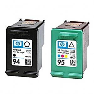 HP Products - HP - C9354FN (HP 94; HP 95) Ink, 480 Page-Yield, 2/Pack, Black; Tri-Color - Sold As 1 Pack - Defined lines and smooth edges add class to any presentation. - Prints page after page of high-quality documents. - Designed to handle the toughest tasks with ease.