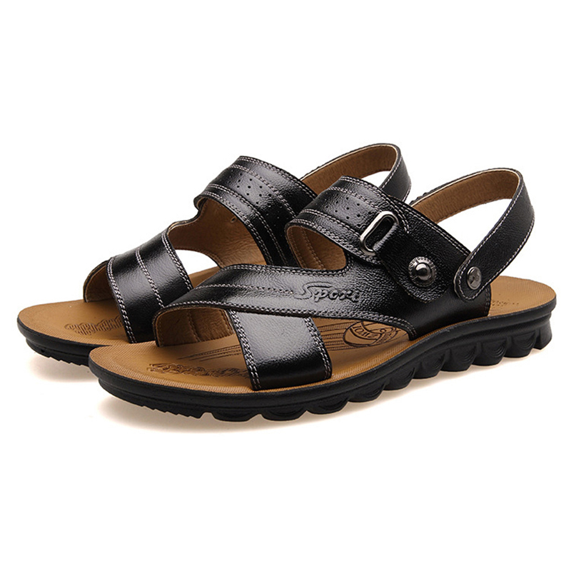 fd0ecc439984 Get Quotations · 2015 Men s Fashion Flat Sandals Comfortable Walking Shoes  Summer Beach Sports Leisure Men Beach open-